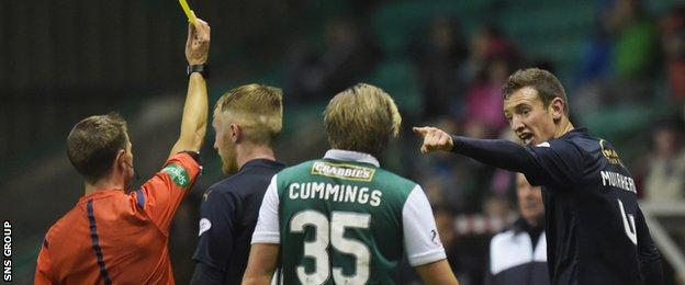 Aaron Muirhead picked up two bookings in a bad-tempered match