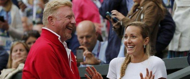 Boris Becker & Jelena Djokovic