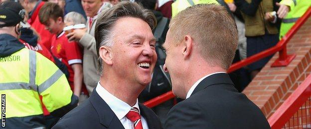 Garry Monk has a 100% record against Manchester United manager Louis van Gaal