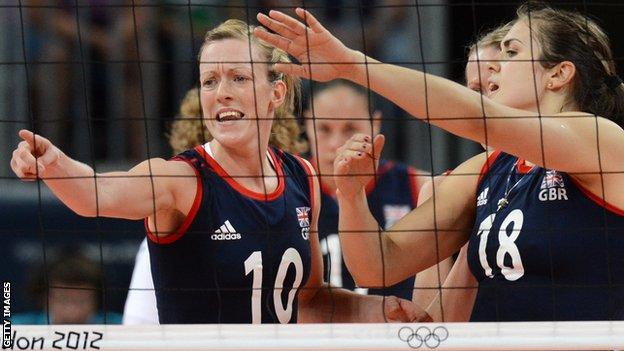 Lynne Beattie (left) in action for Team GB in London