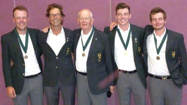 Ireland's amateur golfers made history by winning a bronze medal