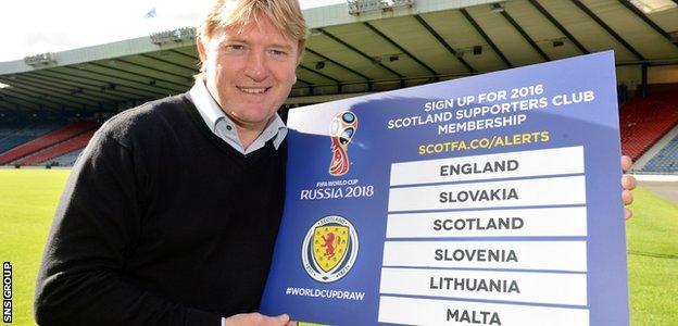 Scotland coach Stuart McCall