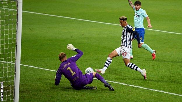 Callum Robinson scores for West Bromwich Albion