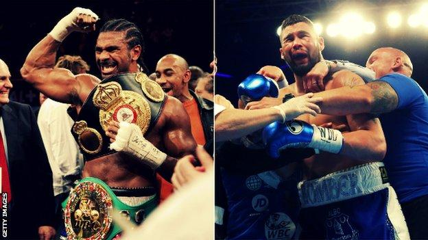 David Haye won cruiserweight world titles in 2007, over eight years before Bellew claimed the WBC strap in the division