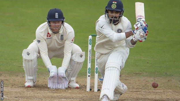 England's Jonny Bairstow and India's KL Rahul