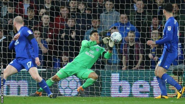 Goalkeeper Neil Etheridge has been one of Cardiff's stand-out performers this season