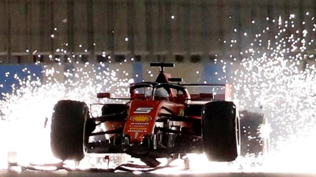 6ae510f9fa1 Lewis Hamilton wins Bahrain GP after Charles Leclerc loses power - BBC Sport