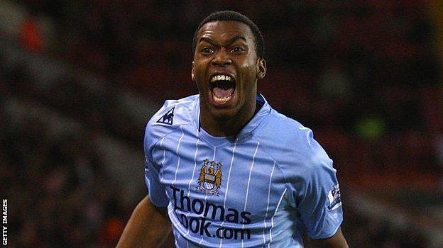 Daniel Sturridge celebrates his first senior goal, for Manchester City against Sheffield United in the FA Cup. He was 18