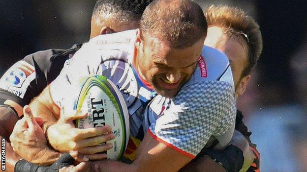 Jamie Roberts made his Stormers debut against the Hurricanes in February 2020