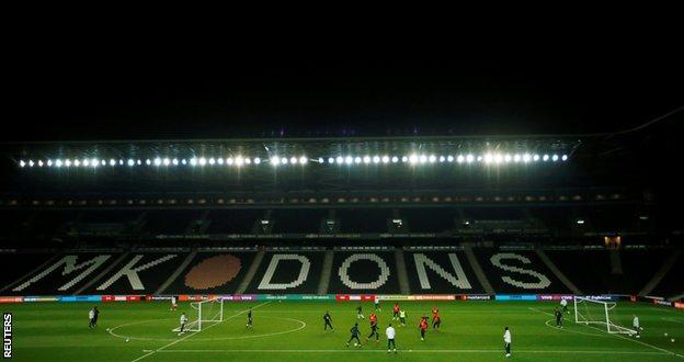 Brazil training at Stadium MK