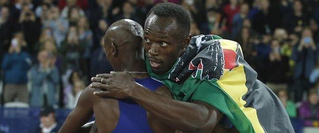 Usain Bolt and Mo Farah