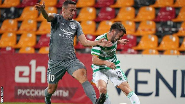 Celtic struggled to create chances in Riga