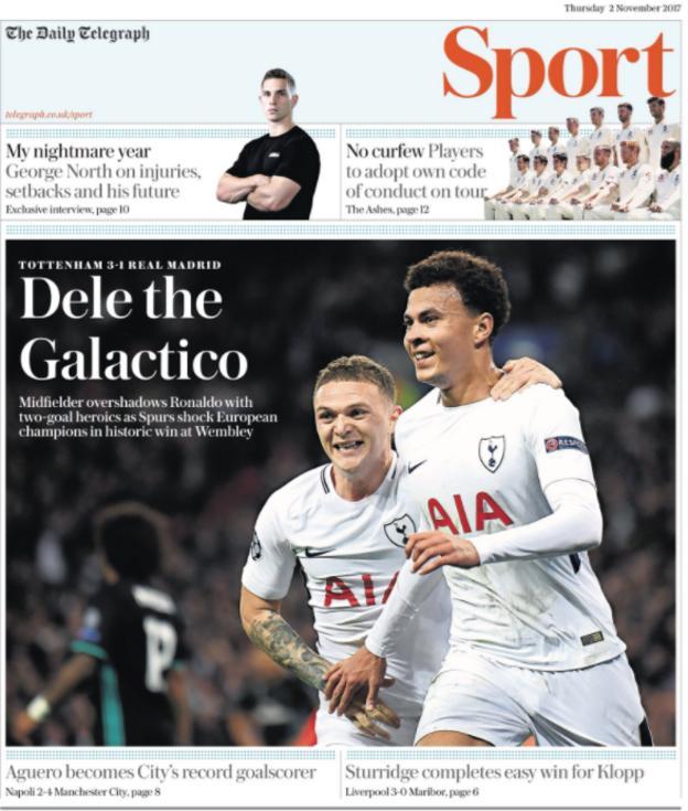 The Telegraph sport section on Thursday