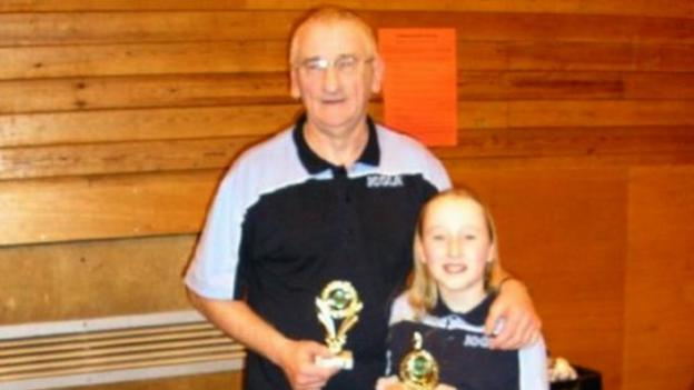 Table tennis player Charlotte Carey was inspired to play by her grandad Malcolm