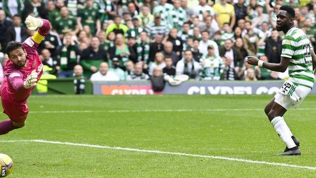 Odsonne Edouard's well-crafted goal gave Celtic a deserved lead