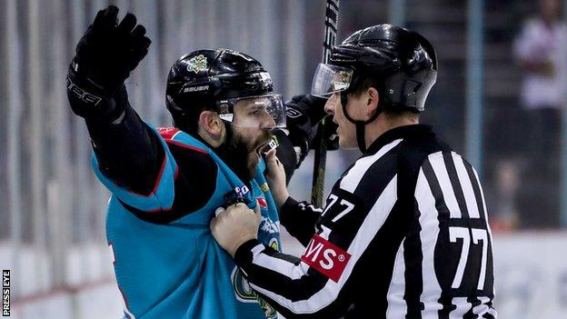 Blair Riley scored one of the goals for Belfast Giants