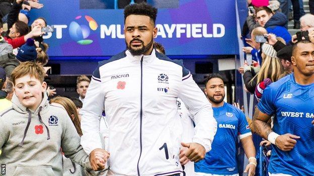 Scotland's Darryl Marfo makes his debut against Samoa
