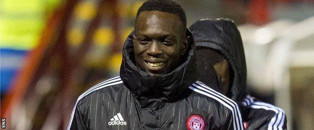 Hamilton Accies striker Oumar Diaby