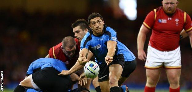 Scrum-half Agustin Ormaechea has rugby pedigree but his Uruguay side are the Pool D minnows