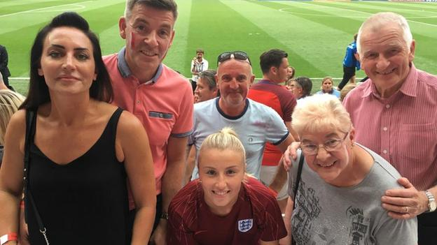 Leah Williamson and family