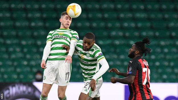 Ryan Christie returned from quarantine as a half-time substitute in the loss to AC Milan