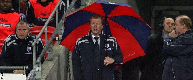 Steve McClaren during his time as England boss