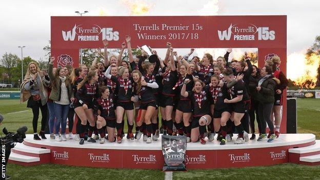 Saracens Women beat Harlequins Ladies to win the inaugural Premier 15s final at Ealing Trailfinders RFC in April