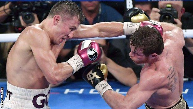 Golovkin and Alvarez shared a draw in 2017 before the Mexican (right) landed a win in 2018