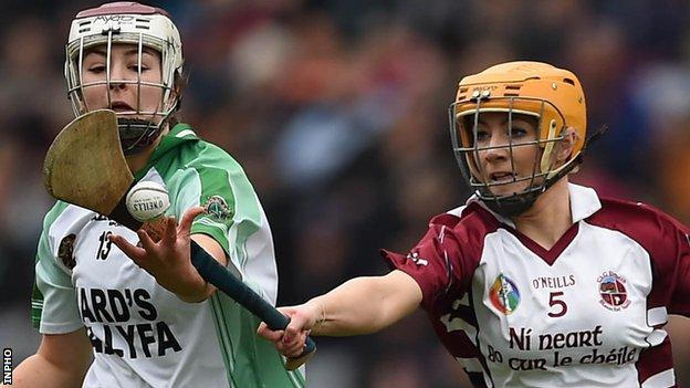 Slaughtneil of Derry won the All-Ireland Camogie Championship for the first time