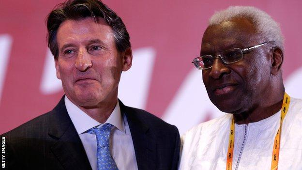 Lord Coe and Lamine Diack