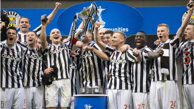 St Mirren's 2013 League Cup win was their first major trophy in 26 years