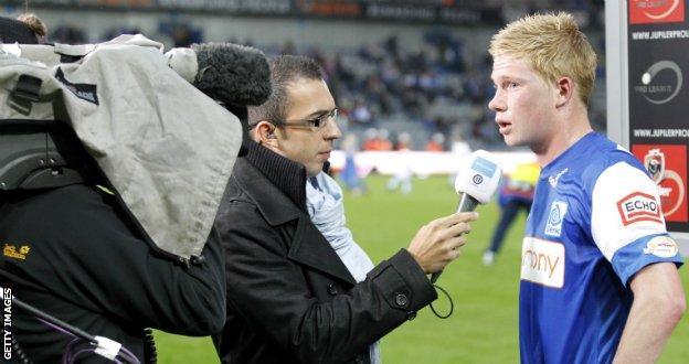 Kevin de Bruyne during his time at Belgian side Genk