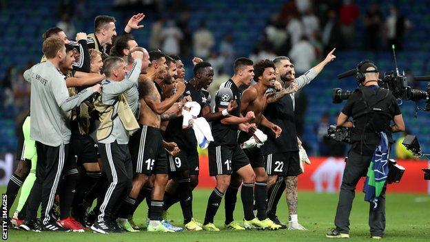Players of FC Sheriff celebrate