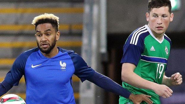 French defender Jordan Amavi in action against Northern Ireland's Conor McDermott