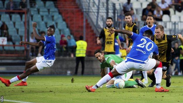 Rangers struggled to create clear openings in Luxembourg