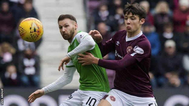 Hickey was been impressive for Hearts despite their relegation last season