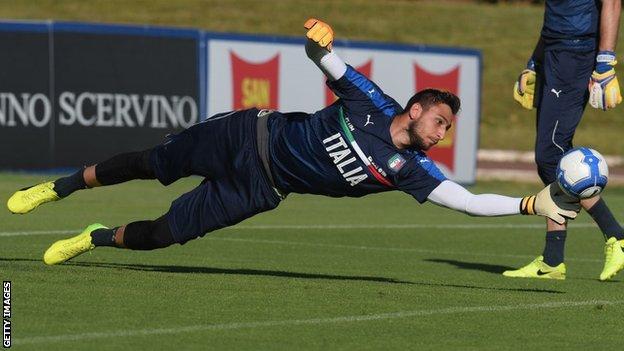 Gianluigi Donnarumma Teenage Goalkeeper Extends Ac Milan Deal Until 2021 Bbc Sport