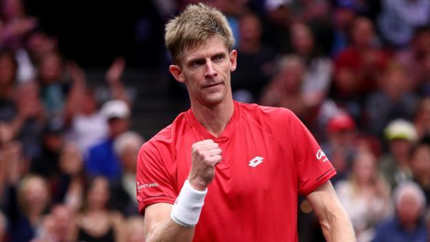Laver Cup: Kevin Anderson gains revenge over Novak Djokovic - BBC Sport