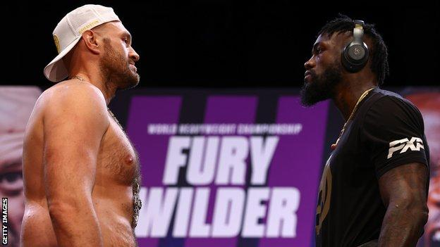 Tyson Fury (left) and Deontay Wilder