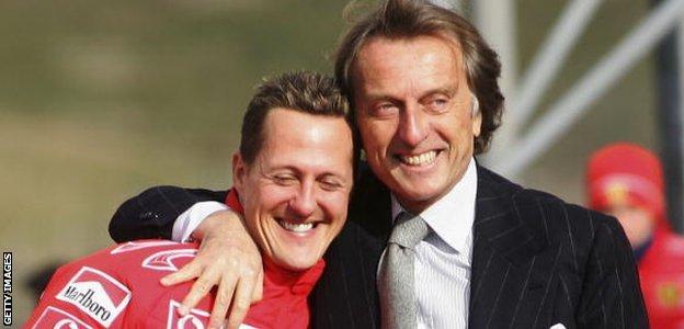 Michael Schumacher with Luca di Montezemolo in 2006