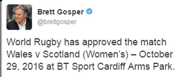 Brett Gosper's Twitter account
