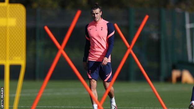 Gareth Bale in Tottenham training