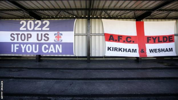 Banners at AFC Fylde