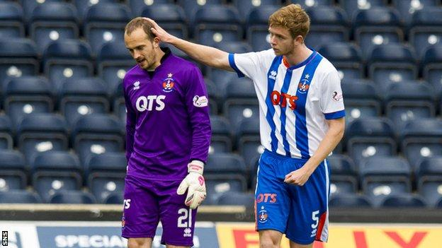 First choice goalkeeper Jamie MacDonald had to be replaced in the weekend win over St Johnstone