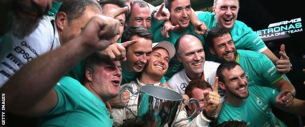 Rosberg and Mercedes team