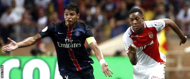 Martial has power and pace - as PSG defender Thiago Silva found out