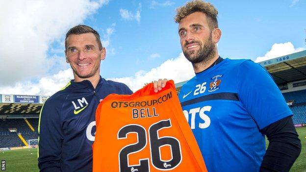 Kilmarnock manager Lee McCulloch and goalkeeper Cammy Bell