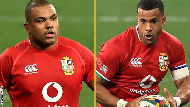 Kyle Sinckler (left) and Anthony Watson