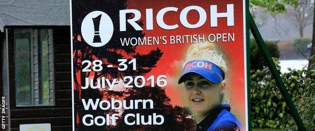 Women's British Open billboard