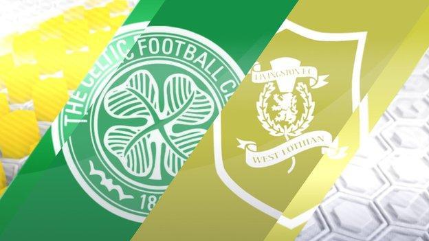 Celtic v Livingston graphic